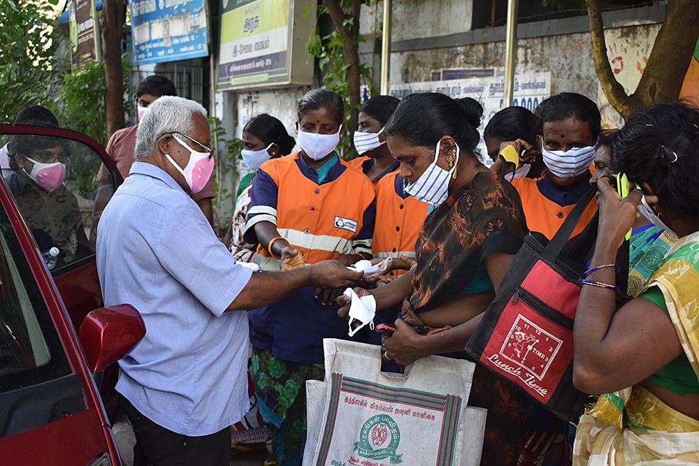 Kolping Indien Hilfe für Coronaopfer