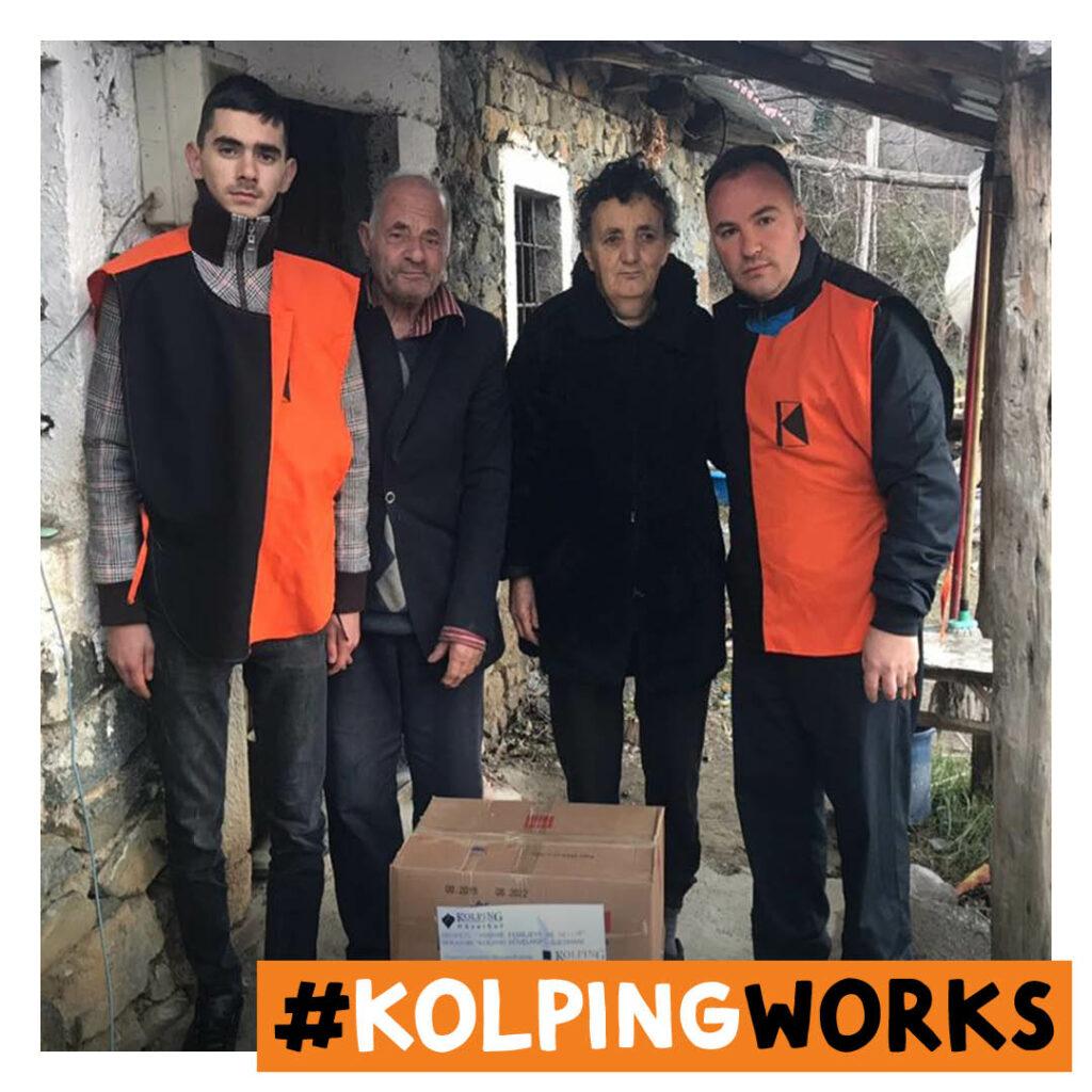 Lebensmittelhilfe für Bedürftige in Albanien